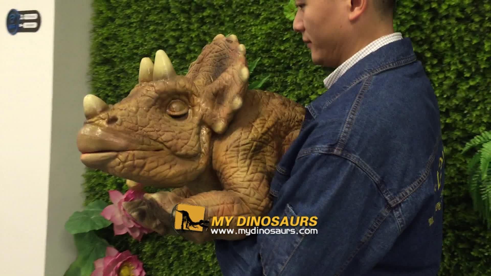 MY Dino-D14-5 Hot Sale Baby Dinosaur Hand Puppet