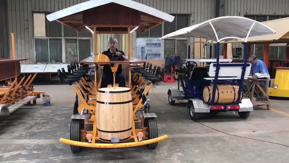 new 2017 innovative product Electric pedal bus beer bike party bike