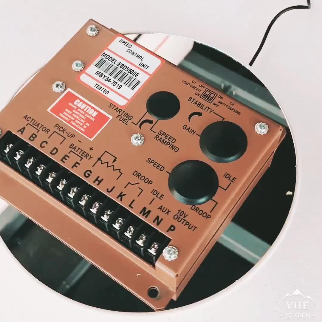Generador Diesel velocidad controlador ESD5500E
