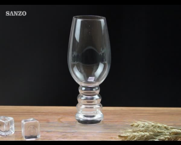 Top selling handmade currugated beer mug glass tumbler