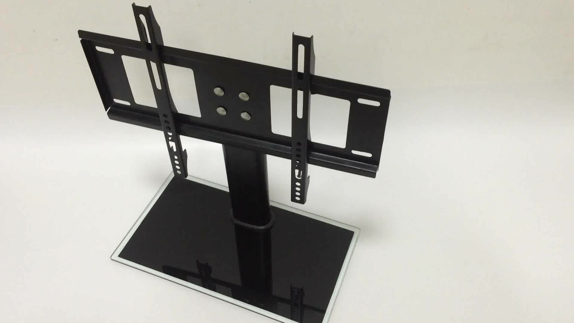 Led Stand Designs : Kinbay universal quot metal glass lcd led tv bracket