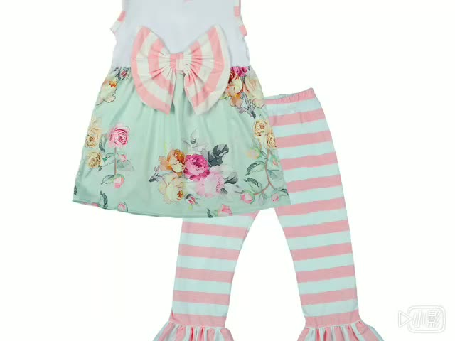 Conice nini brand persnickety spring designs ruffle boutique girl clothing set