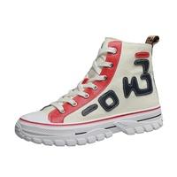简莱洛高帮帆布鞋女士2021新款单鞋评价好不好?