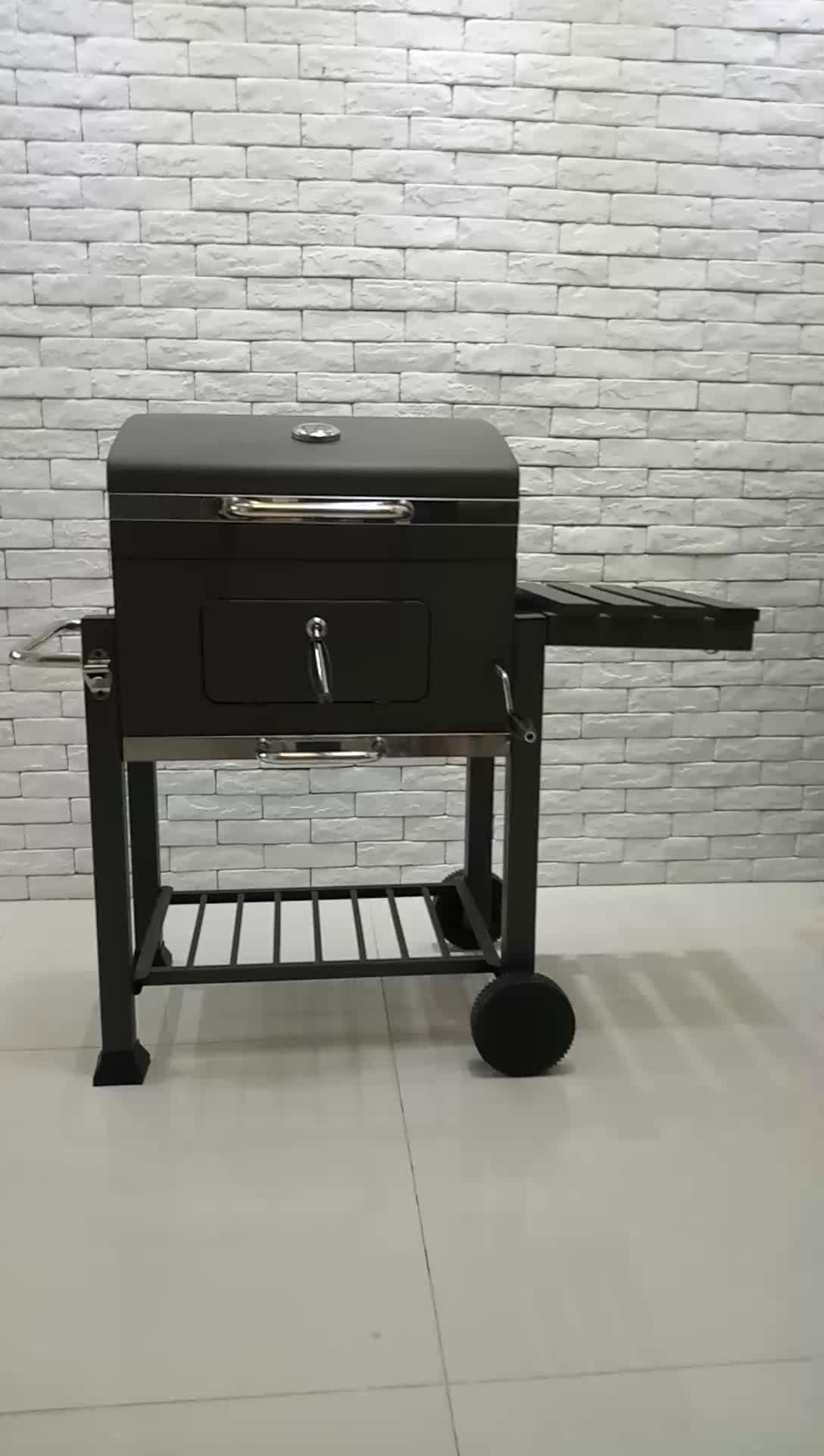 Extra Large Heavy Duty Charcoal BBQ Somker Grill For Outdoor Barbecue