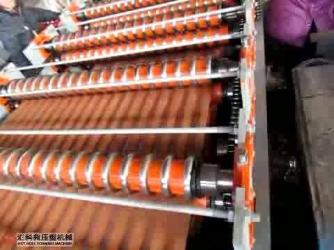 Chinese color steel roofing panel tile cold roll forming machine equipment line with High speed and high quality