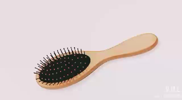 Yaeshii Premium Wooden Baby Hair Brush and Comb Set Natural Soft
