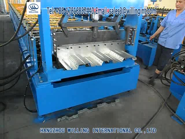 Automatic floor deck roll forming machine with low price attached the videos