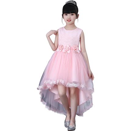 2019新款夏装蓬蓬纱连衣裙拖尾裙子