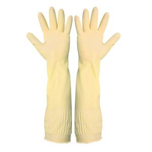 女加长耐用型塑胶皮劳保工作手套