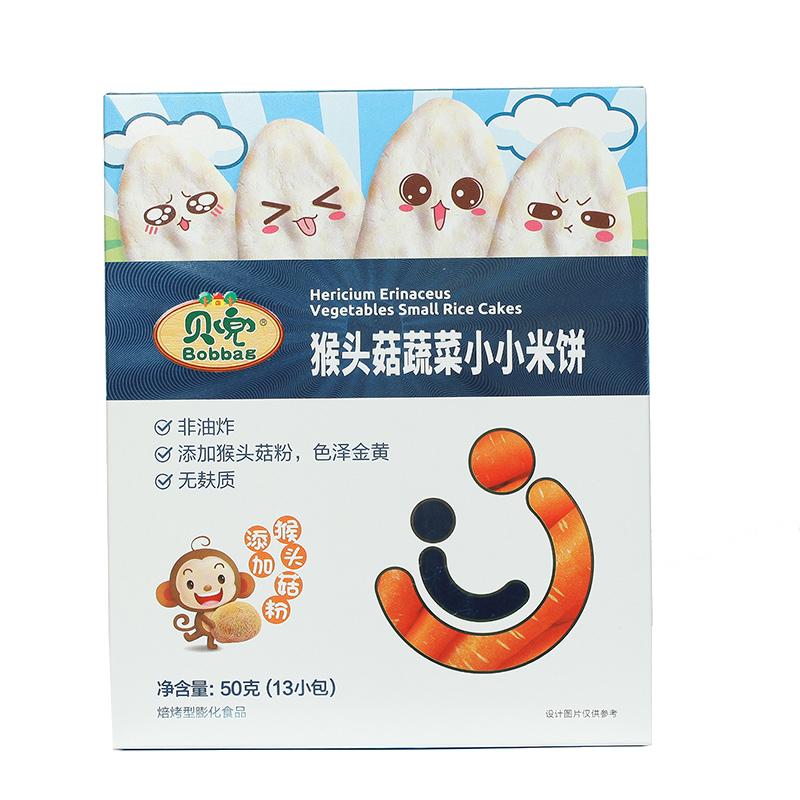 贝兜米饼1盒非宝宝婴幼儿辅食儿童小零食磨牙饼干无添加口水米饼