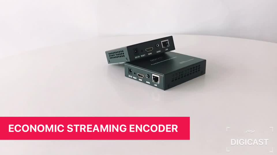 Digicast Support H.265/H.264 Main Profile/High Profile And MP3 & AAC Audio Compression H264 Encoder Video IP Encoder Decoder