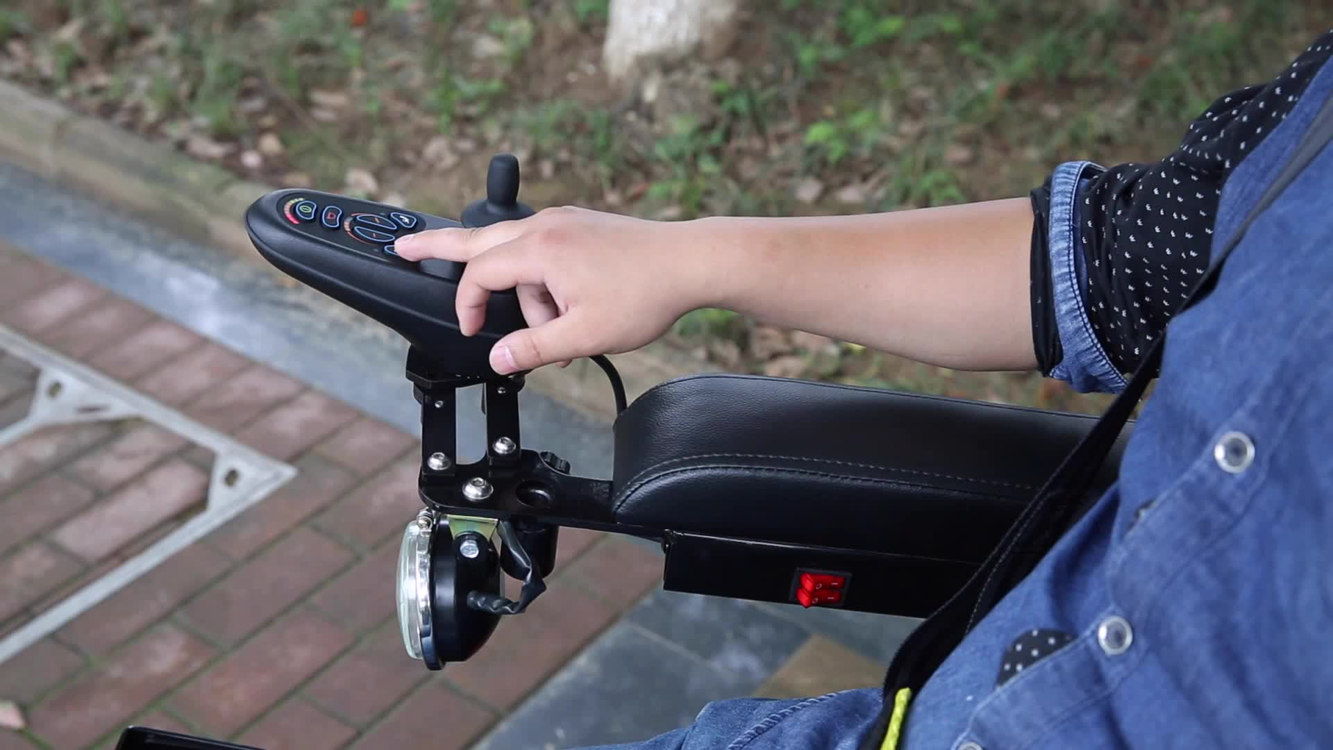 Steel lying power electric standing up wheelchair with PG controller