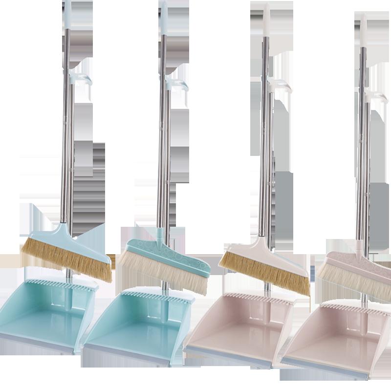扫把不粘头发猪鬃毛捎把扫帚地家用套装软毛细毛卧室单个笤帚簸箕
