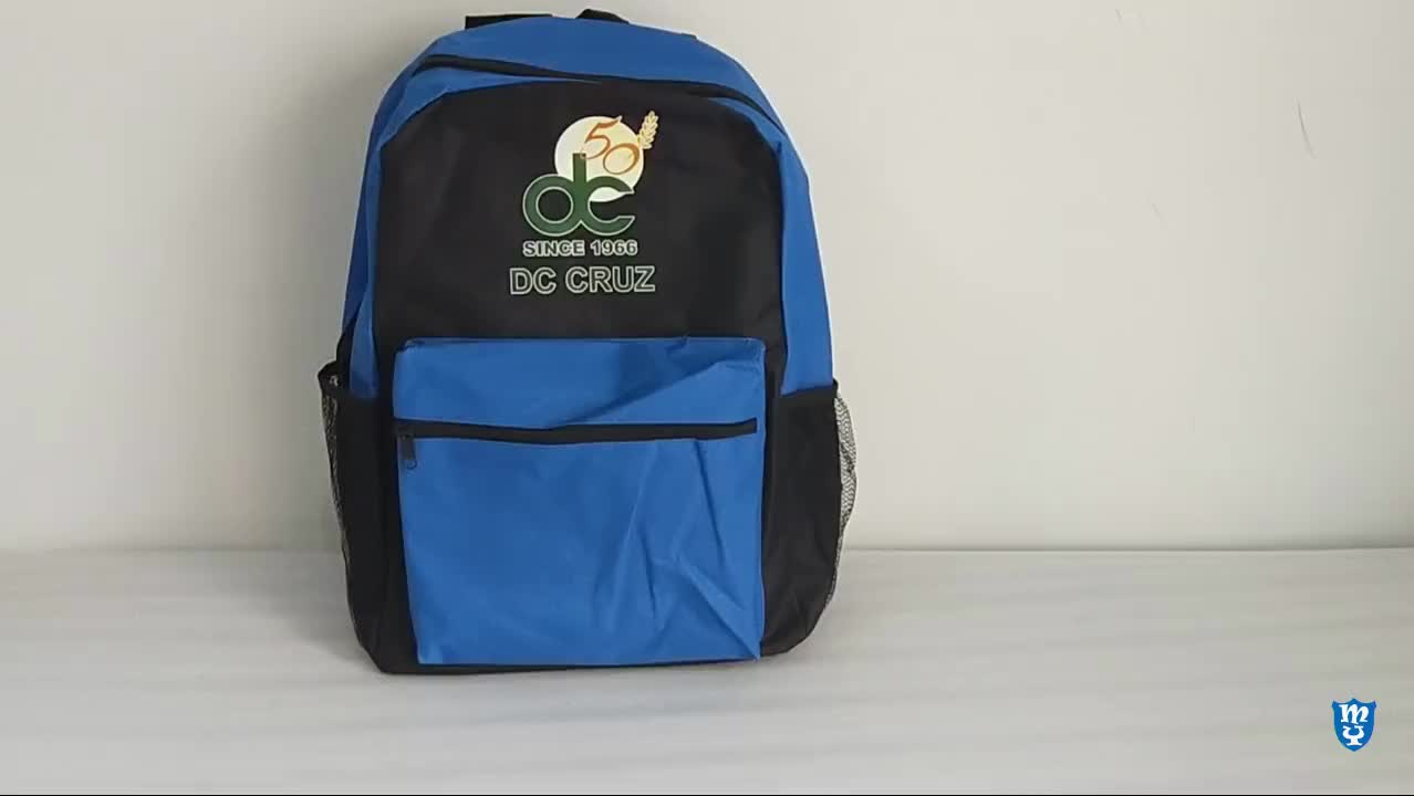 Custom Polyester Back pack Student Book Bag Classic School Backpack