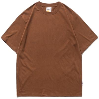 春夏季男士短袖t恤男宽松休闲纯色T恤男休闲半袖体恤上衣男百搭