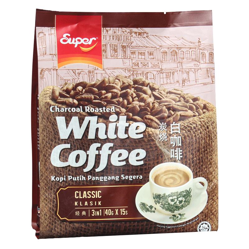 马来西亚进口super超级牌原味三合一速溶白咖啡粉600g袋装