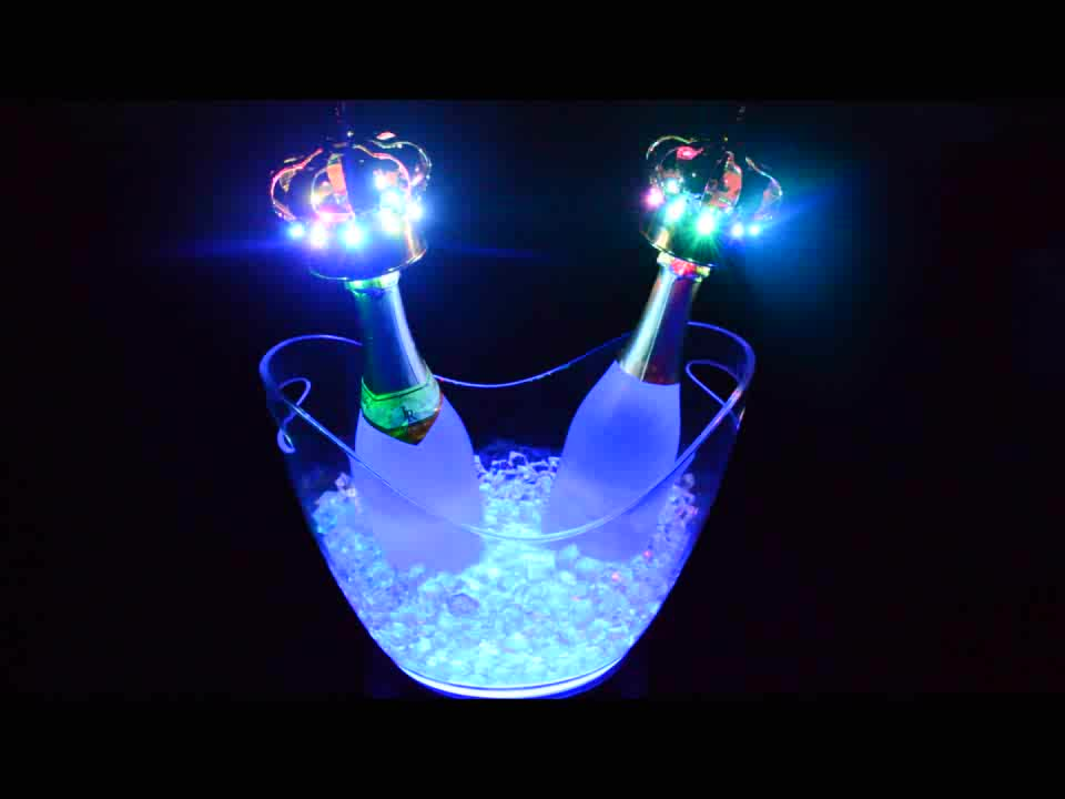 cheap plastic champagne acrylic led ice bucket for beer. Black Bedroom Furniture Sets. Home Design Ideas