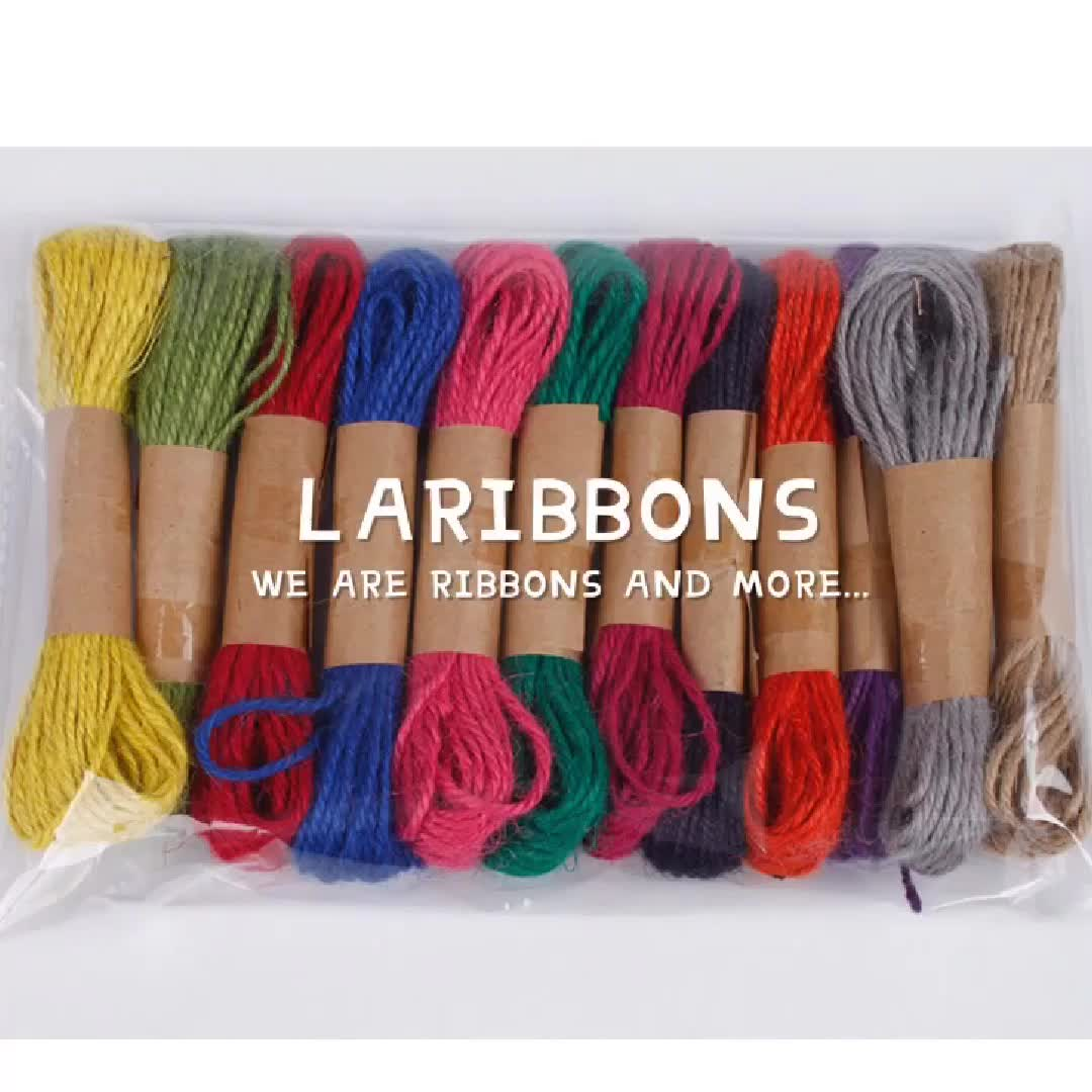 Wholesale 12 colorful bulk sisal bakres jute twine