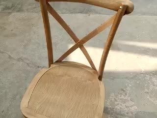Popular Outdoor Furniture Antique Beach Solid Wood X Cross Back Chair