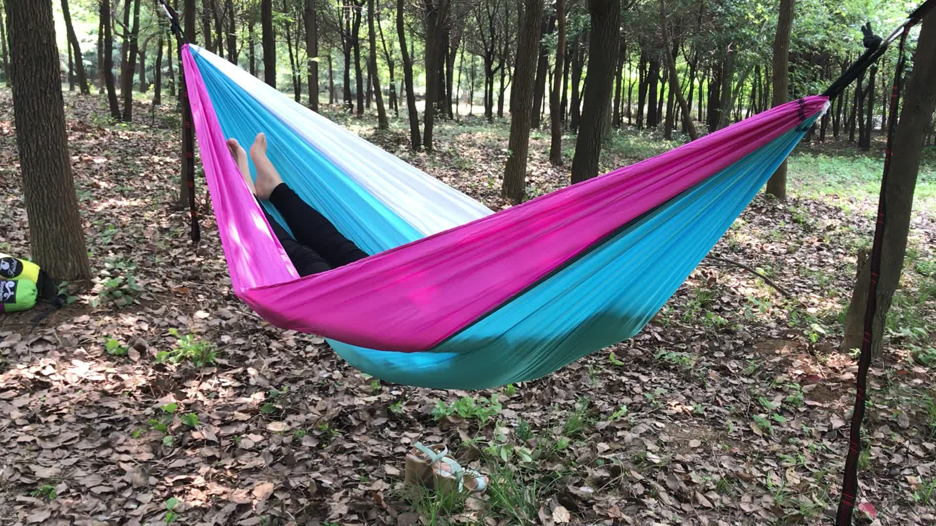 camping net jungle outdoor bed hiking travel swing hammock sleeping nylon hanging mosquito product