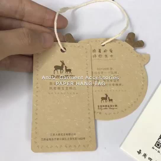 Tag baratos baratos luxuosos da roupa Etiquetas penduradas da etiqueta do cair do vestuário