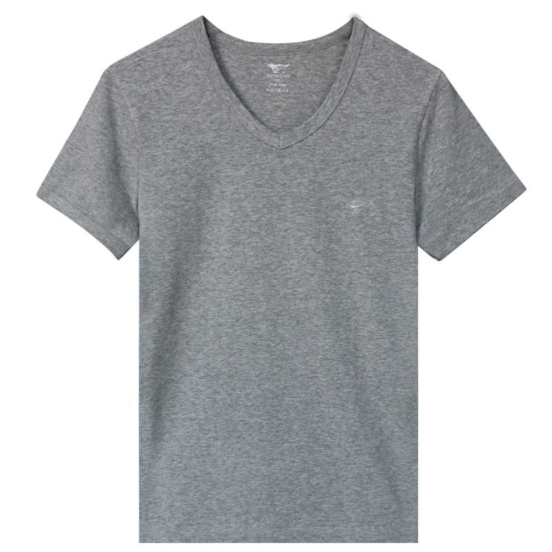 七匹狼男士t恤短袖v领内衣背心半袖纯棉夏季老头衫打底全棉汗衫男