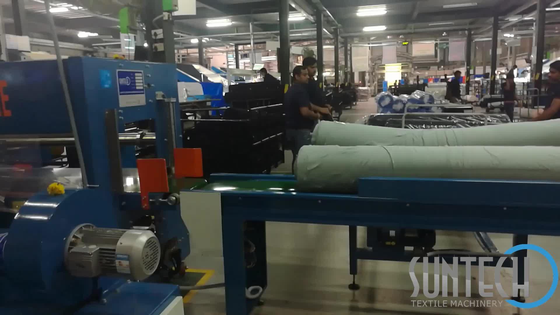 Suntech Automatic Textile Fabric Shrink Polythene Film Packing Machine
