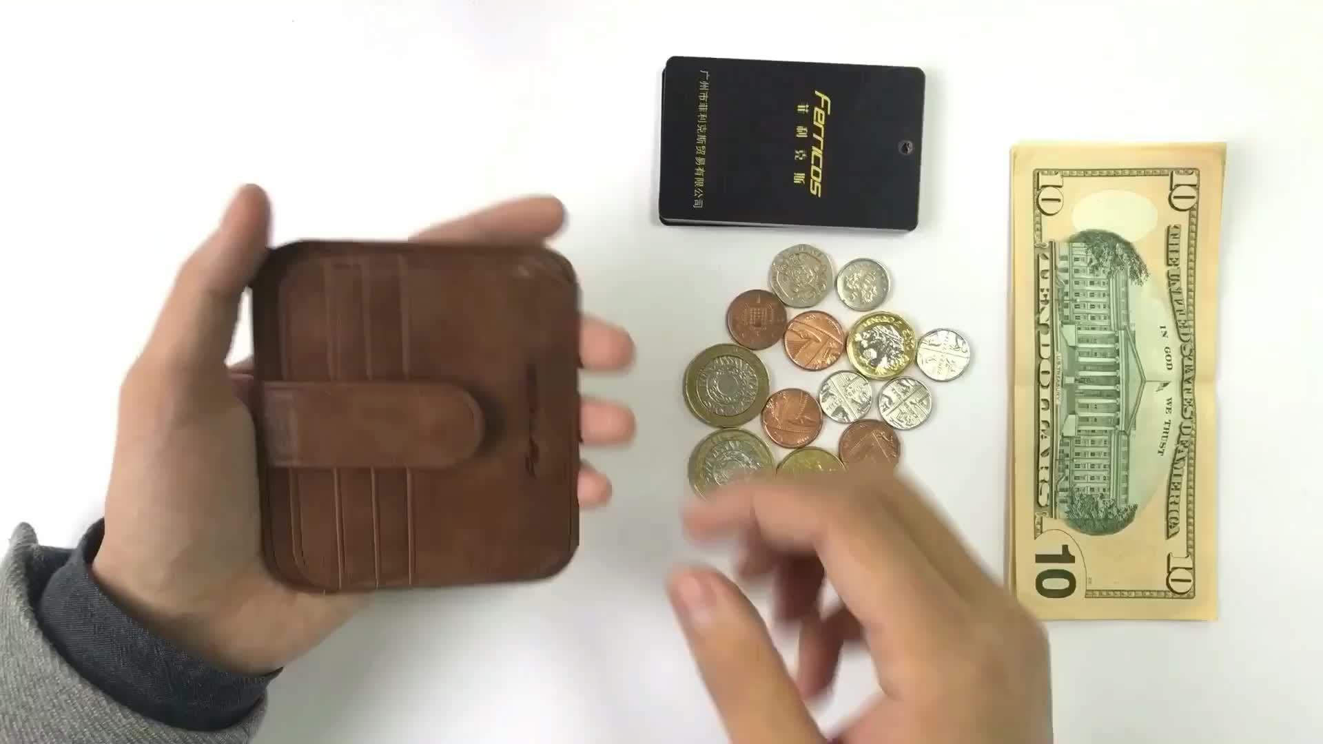 Mens RFID Blocking Front Pocket Minimalist Genuine Leather Credit Card Holder Rfid