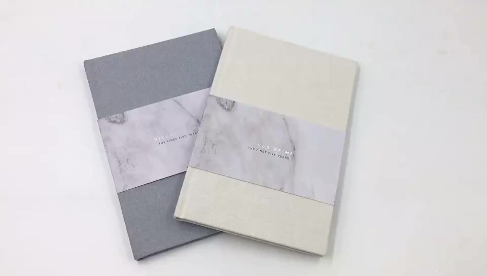 custom luxury cloth deboss cloth cover book printing in Guangzhou