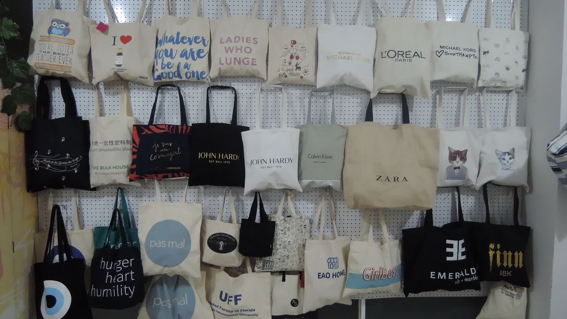 China Manufacturer Supply Directly Classic Natural Standard Size Cotton Tote Bag Custom Tote Bag