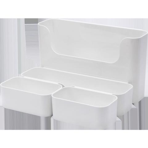 纳川壁挂式置物储物盒厨房浴室卫生间杂物塑料免打孔收纳整理盒