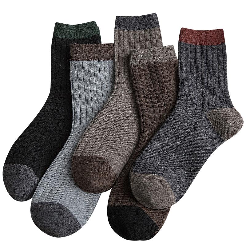 袜子男士冬季特厚保暖中筒毛圈袜羊毛超厚加绒加厚毛巾冬天纯棉袜