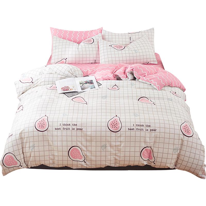 南极人网红款全棉纯棉夏季四件套床上用品单人宿舍床单被套三件套
