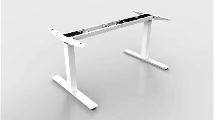 2 legs metal lifting desk electric office standing table