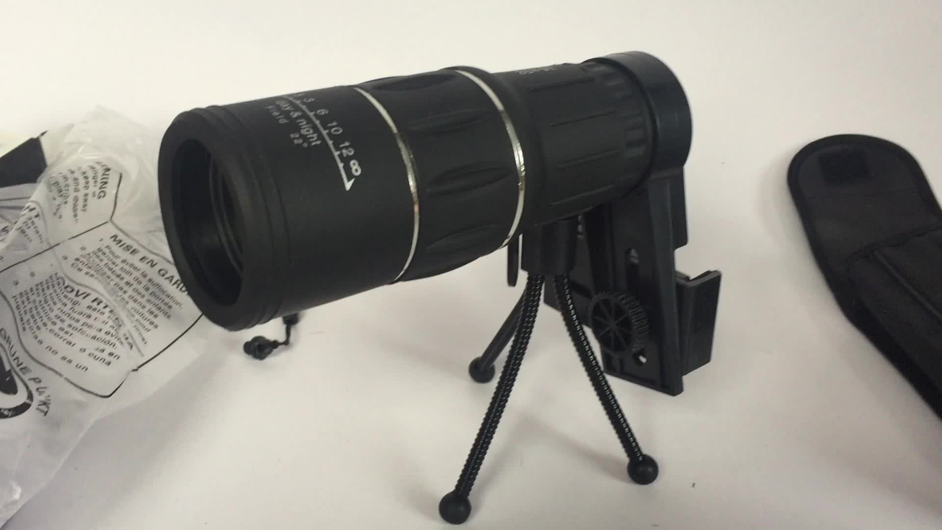 Hd wide view dual focus monocular telescope with