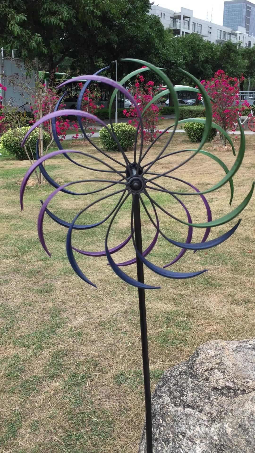 Metal Stake Garden Wind Spinners