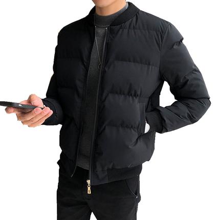 男士2019冬季新款短款修身韩版棉服