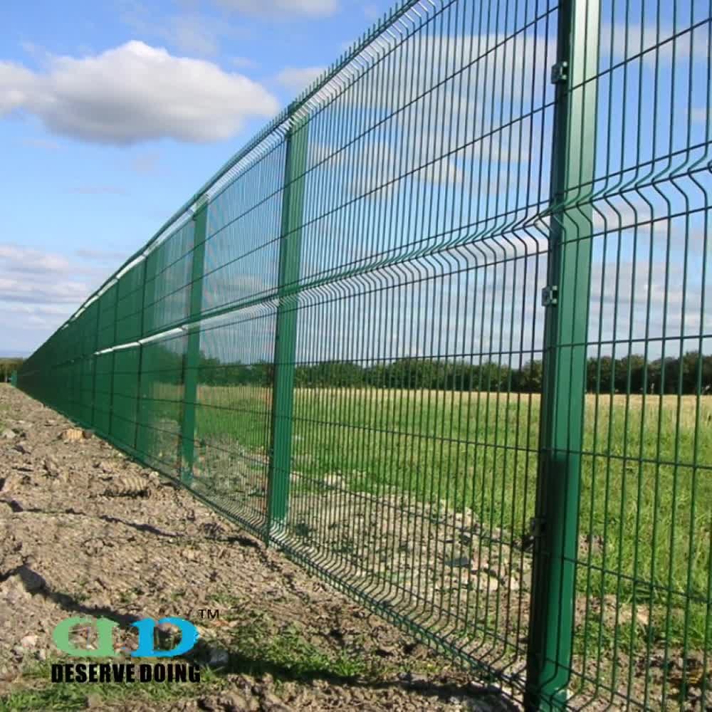 Quality Steel Welded Mesh Panel Fencing For Road Railway