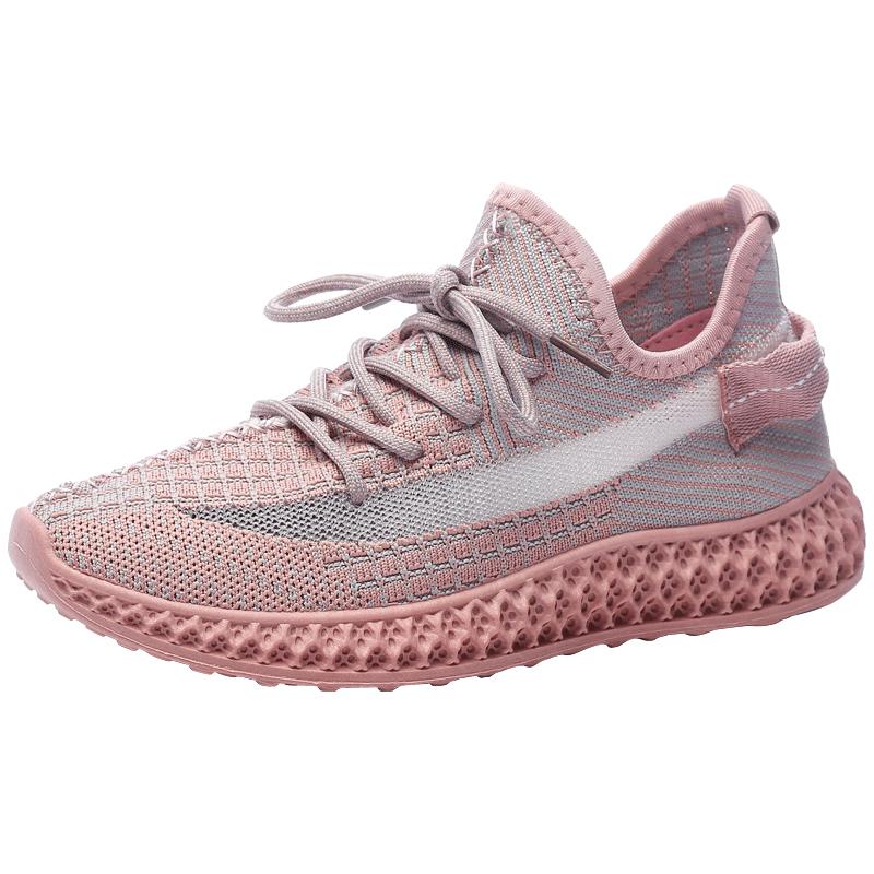 万沃椰鞋子春季女鞋新款2021情侣鞋运动鞋女飞织跑步鞋老爹网鞋子