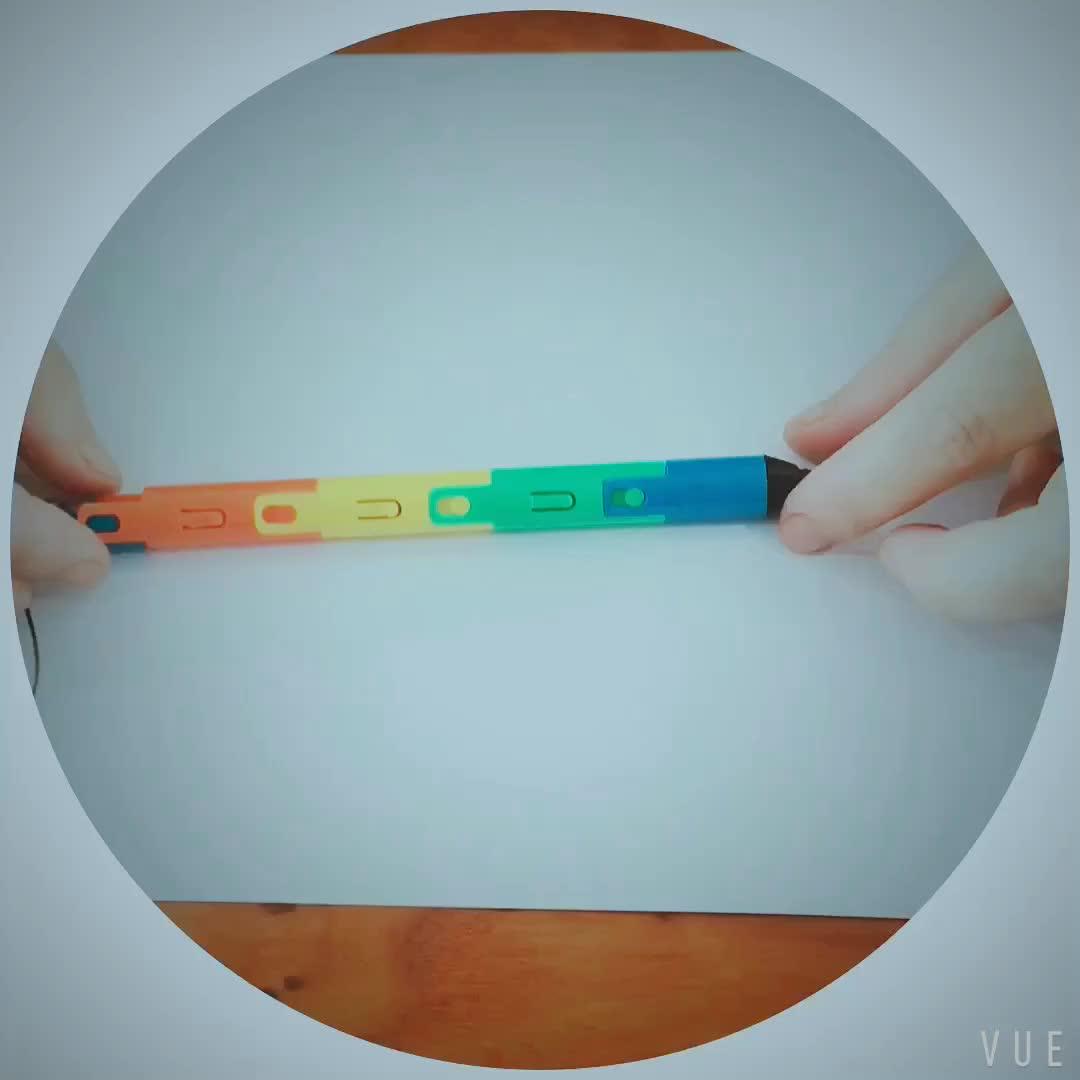 Neue ankunft UV LED licht Neuheit kunststoff klapp kugelschreiber mit custom logo geschenk 3d stift für schule mädchen jungen kinder SML62160LH