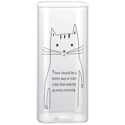 大容量果汁女透明杯子清新玻璃杯