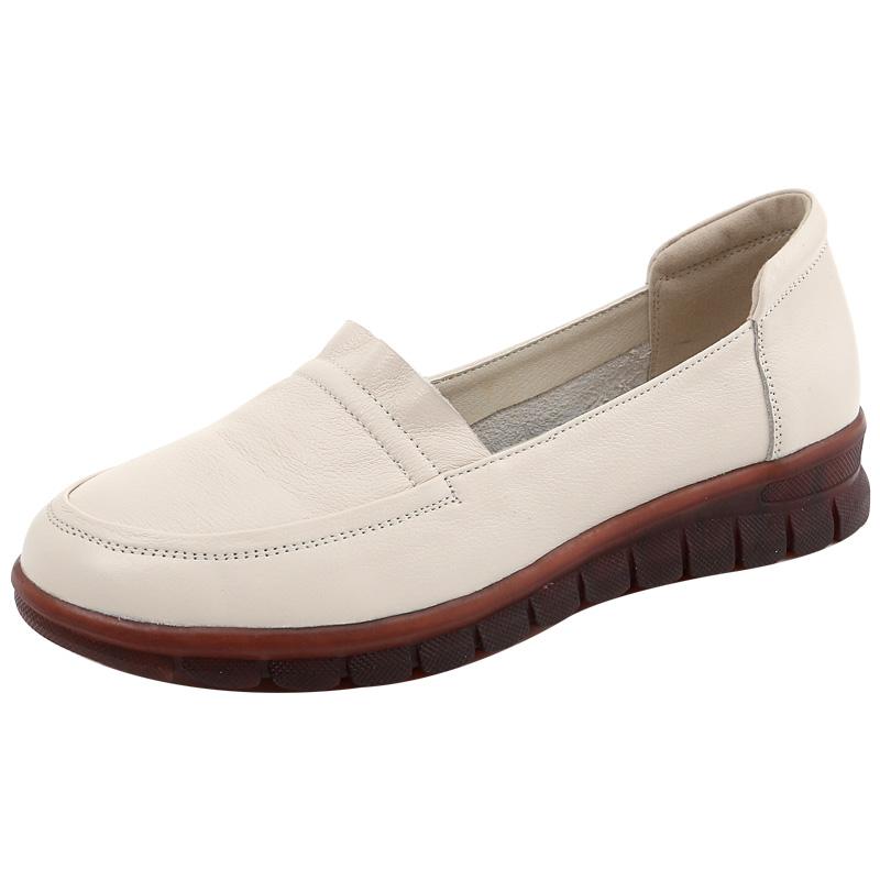 平底2021新款春季真皮软底舒适皮鞋用后反馈