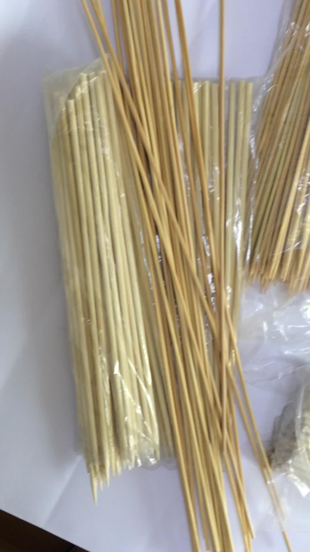 Gedroogde bamboe sticks voor wierook/bbq spiesjes lijn productie