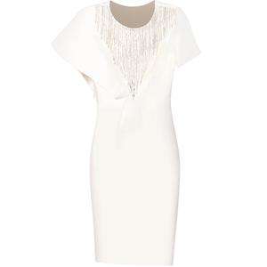 创意狐白色小礼服裙平时可穿演出服
