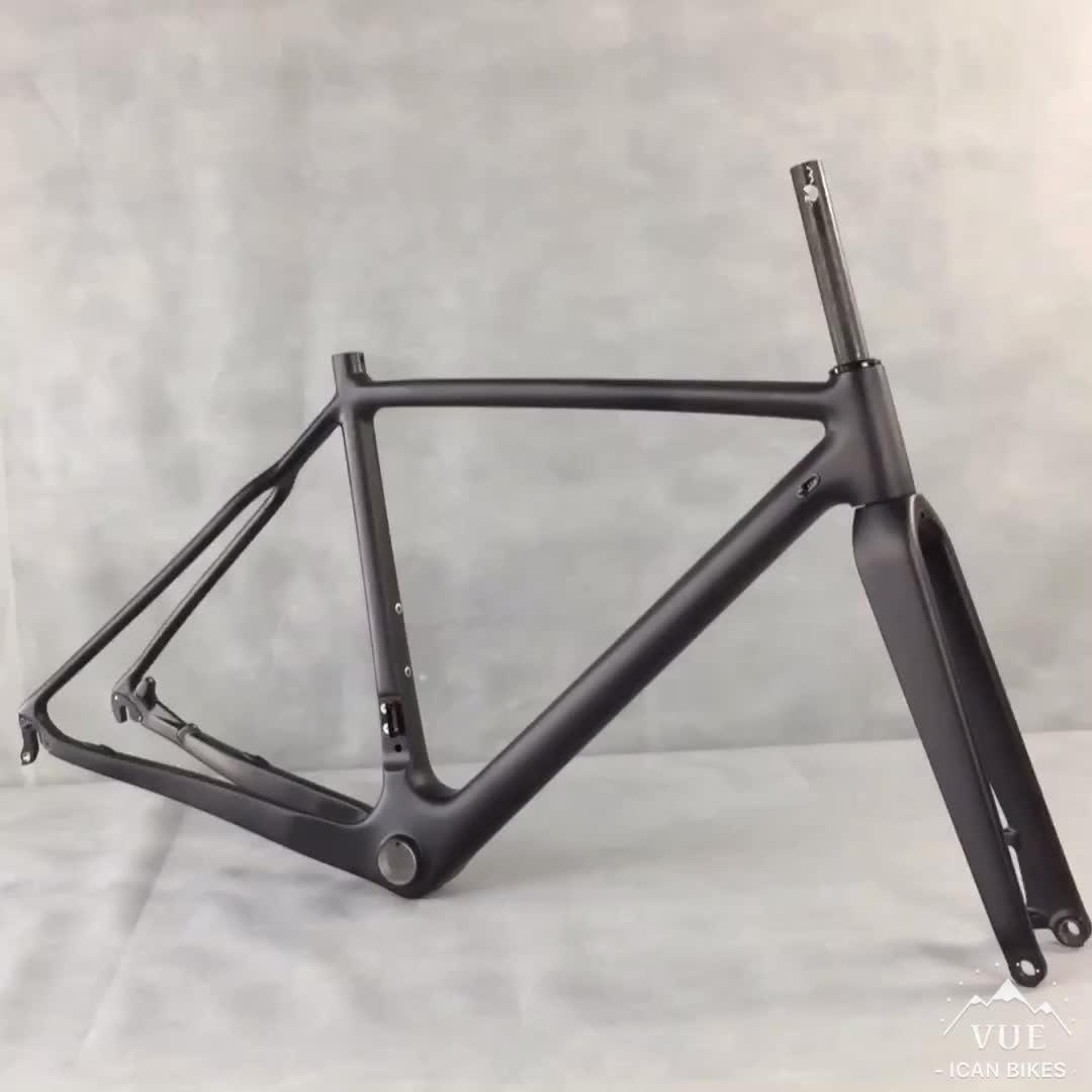 2015 ICANBikes Disc brake Carbon Cyclocross Frame thru axle quick release cyclocross carbon fiber frames