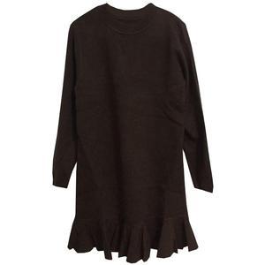 秋冬高领韩版纯色宽松流苏潮针织衫