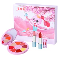 莱索兔儿童化妆品套装无毒女孩眼影礼物演出彩妆公主盒口红可水洗