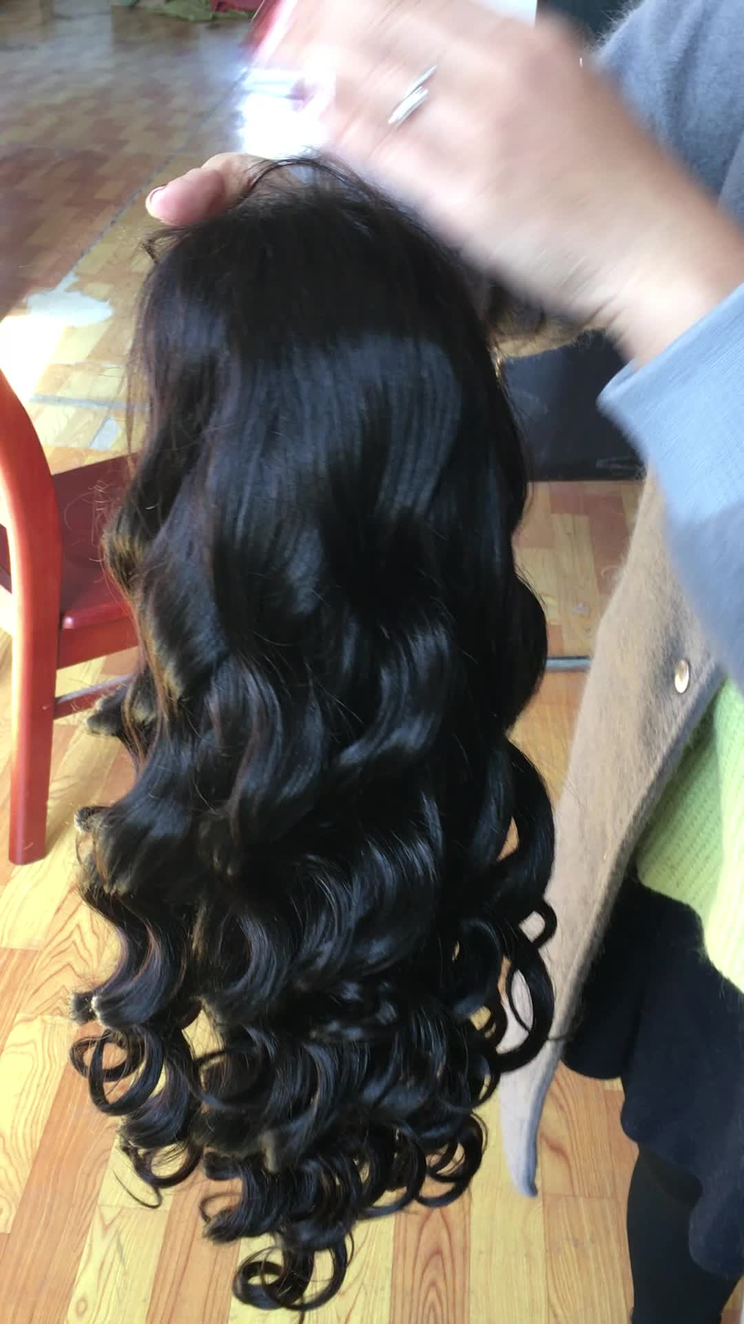 Hot Sale 9a 10a China Full Lace Front Wig Cuticle Aligned Brazilian Body Wave Hair Short Virgin Wig