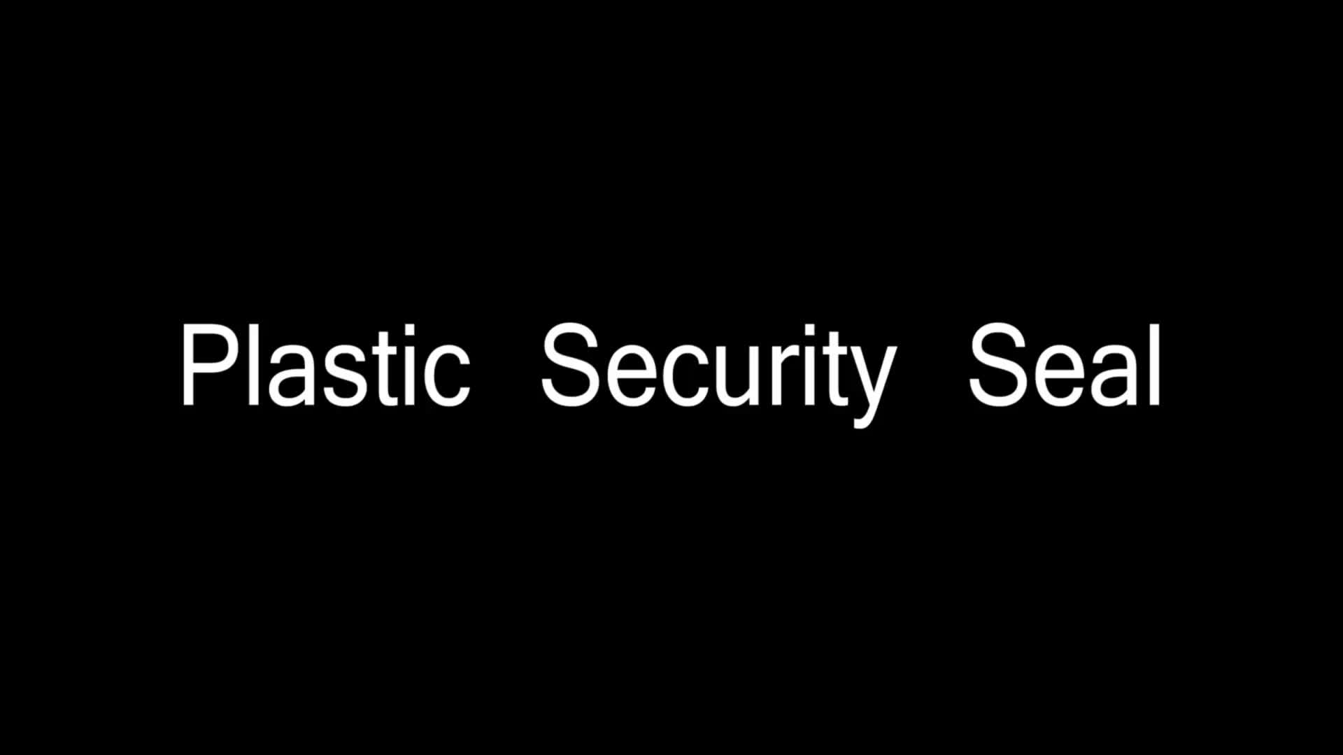 Custom Made Plastic Material Security Seals Safety Lock