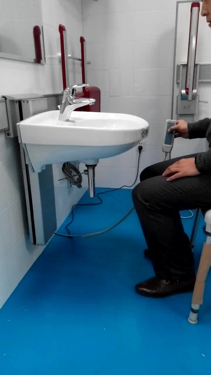 Best design for wheelchair used patient height adjustable for Best wash basin design